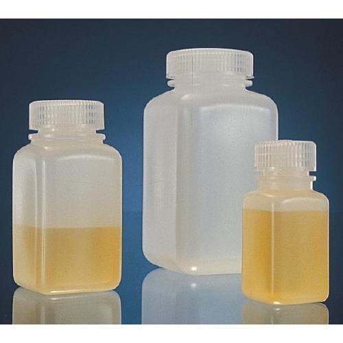 High-Density Polyethylene Square Storage Bottles