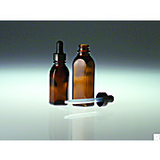 Oval Dropper Bottles with Black Phenolic Plastic Dropper Assembly
