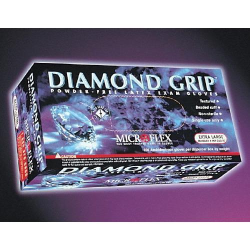 Diamond Grip Latex Gloves X-S Case