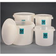 Large, Round, High-Density Polyethylene Jars