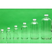 Clear Boston Round Bottles, Certified