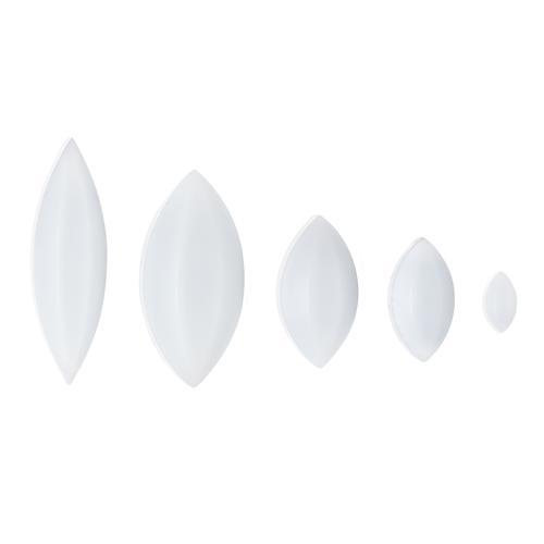 F37130-0034 Magnetic Stirring Bar; 19.1 x 9.5mm Egg-Shaped White Bel-Art Spinbar Teflon Elliptical