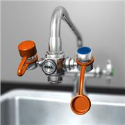 EyeSafe™ Faucet-Mounted Eyewash with Adjustable Aerated Outlet Heads