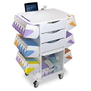 White Polyethylene Suture Procedure Carts