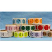 Color-Coded Chemical Sample Labels