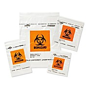 Thumbnail Image for Zip-Style Biohazard Specimen Bags