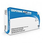 GripStrong® White Nitrile Gloves