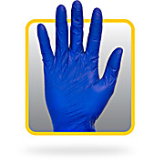 Blue Powdered Latex Non-Medical Gloves