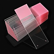 Microscope Slides, Diamond White Glass, 25 x 75mm, Charged, 90° Ground Edges, Pink Frosted, 72/Box, 20 Boxes/Case (10 Gross)