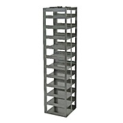 "Chest Freezer Rack for 100-Cell Hinged Plastic Cryoboxes, capacity 10 boxes, 23 1/16 x 5 7/8 x 6 1/4"" (H x W x D)"