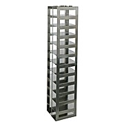 "Rack for 96 Deep Well Microtiter Plates, capacity 13 boxes, 23 11/16 x 3 5/8 x 5 1/2"" (H x W x D)"