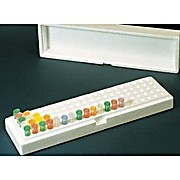 Microtube Box, Box, 100 x 1.5ml, with lid, 10/Pack