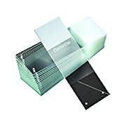 Microscope Slides, Diamond White Glass, 25 x 75mm, Charged, 90° Ground Edges, White Frosted, 72/Box, 20 Boxes/Case (10 Gross)
