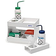 Denville® Benchtop Storage, Rotating Two-Tier Lab Depot (12W x 12D x 9.25H)