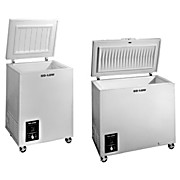 Chest Freezers to -25°C and -40°C, Cu. Ft.: 5 / Liters: 142Temp. Range: 0° to -45°C Int. Dimens.: 28.5 x 16.5 x 22 in. Ext. Dimens.: 38.5 x 24.5 x 27.5 in.