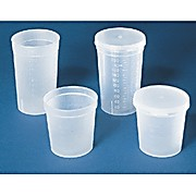 Disposable Specimen Containers, 4.5 oz. bulk, w/o lid, nonsterile (63x63mm) Qty: 500