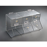 3-Compartment Acrylic Dispensing Bins