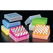Microtube Storage Boxes - 81 x 1.5ml, Yellow with natural lid, Qty: 10