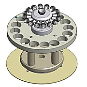16 position Turntable for Standard 75 mL (40 Bar) Digestion Vessels (Turntable Only)