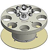 8 Position Turntable for High Pressure 100 mL (100 Bar) Digestion Vessels (Turntable Only)