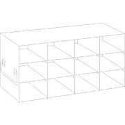 "Upright Freezer Racks for Large 3.75"" High Boxes"