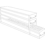 "Upright Freezer Drawer Racks for Standard 2"" Boxes and 15 & 50mL Centrifuge Tubes"