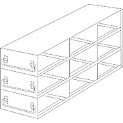 Thumbnail Image for Upright Freezer Drawer Racks for 100-Cell Hinged Top Plastic Boxes