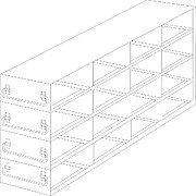 Thumbnail Image for Upright Freezer Drawer Racks for 96 Deep-Well Microtiter Plates