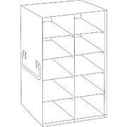 Regular Upright Freezer Racks for 100-Cell Hinged Top Plastic Boxes