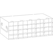 Regular Upright Freezer Racks for 50-Cell Hinged Top Plastic Boxes