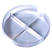 Kord™ 100 x 15 Quad Plate Petri Dish, No Rim for Automation