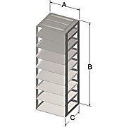 Chest Freezer Racks for 50-Cell, 1.5mL Microtube Boxes