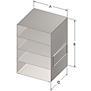 Upright Freezer Racks for 50-Cell, 1.5mL Microtube Boxes
