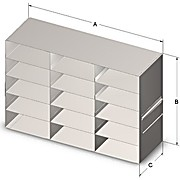 Upright Freezer Racks for 50-Cell, 0.5mL Microtube Boxes