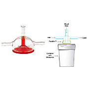Mosquito Feeders, Large, 50mm Diameter Feeding Area, Membrane Style, Glass