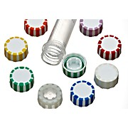 Screw Caps with Elastomeric Seal, for SuperClear® Tubes