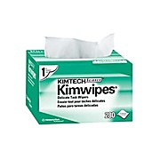 "KIMTECH SCIENCE* KIMWIPES* Delicate Task Wipers, White, 4.4"" x 8.4"""