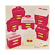 Sharps Container Clear/Red 8Qt