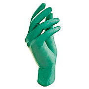 NeoTouch Green Neoprene Powder-Free Lab-Exam Gloves, Textured Fingertips