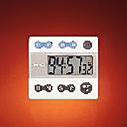 Four-Channel Alarm Timer, Digital Read Out, Plastic Housing and Audible Alarm
