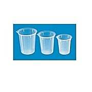 Medicine Cup, Polypropylene Disposable Beaker, Clear, 100 ml