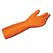 MAPA 51856 Orange Trionic Cleanroom Acid Gloves 14 inch