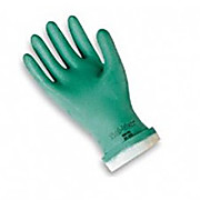 Solvex Green Nitrile Flocklined 15 mil 13 Inch Chemical Glove