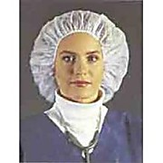 Cleanroom Polypro Bouffant Cap, 24 inch Red