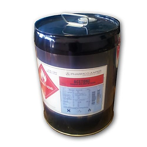 Acetone, 99 9%, ACS/USP NF Grade, 5 Gallon Drum with Reike Spout