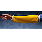 "CPP Arm Sleeves, Neoprene Over Sleeves with Elastic at Both Ends, Yellow, 18"", 1 Pair"