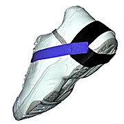 Cup Style Heel Grounder, Stretch Velcro, Blue