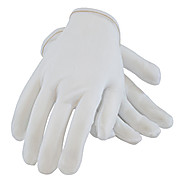 CleanTeam 40 Denier Tricot Inspection Glove with Rolled Hem Cuff - Ladies'
