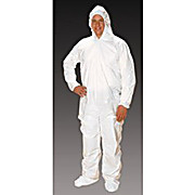 Critical Cover ComforTech Coveralls, Elastic Hood, Wrist and Ankle, AquaTrak Boots, Serged Seams, White, Sizes Medium thru 5X-Large