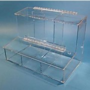 "3 Compartment Dispenser for Finger Cots, Ear Plugs and Small Parts, 17"" w x 12"" h x 9"" d"
